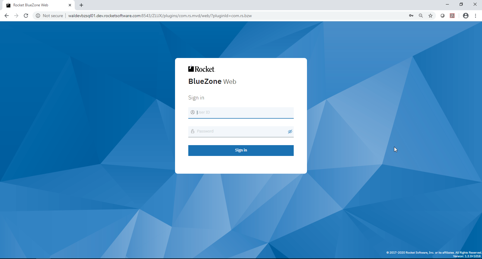 BlueZone Web Login