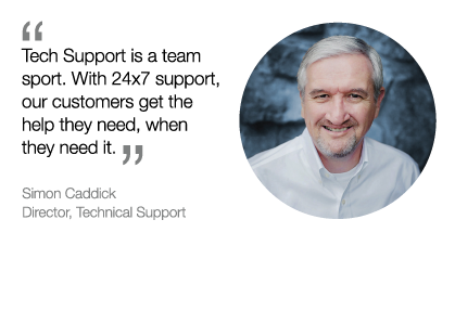 Simon Caddick tells how great Rocket Software support is