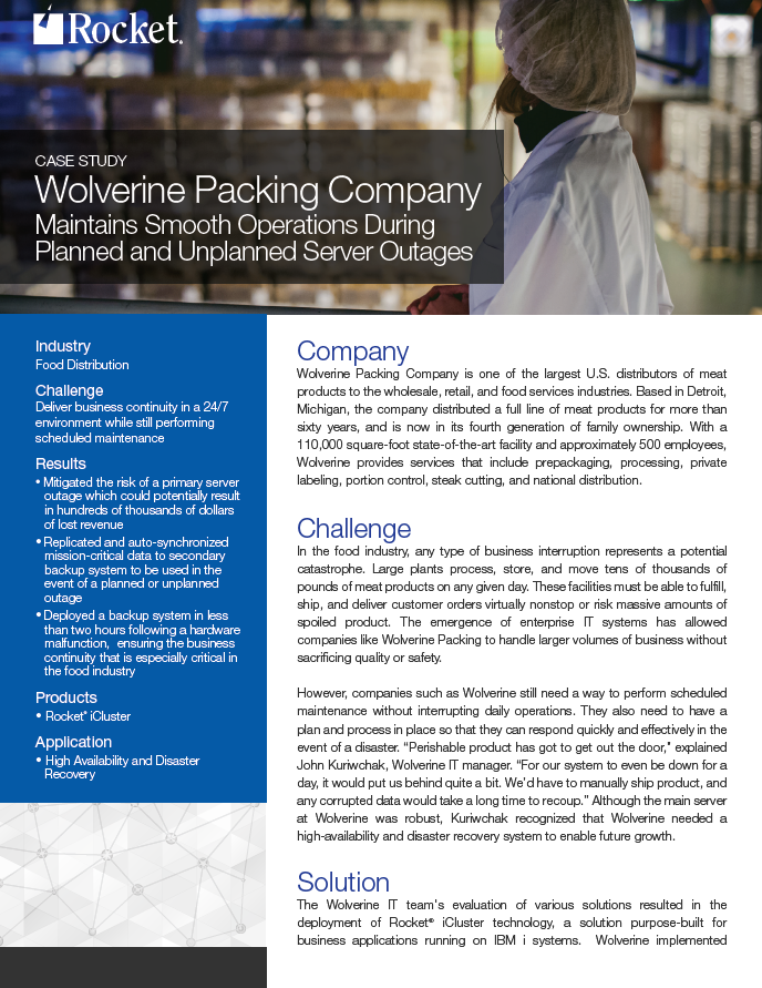 Wolverine Packing Company Case Study