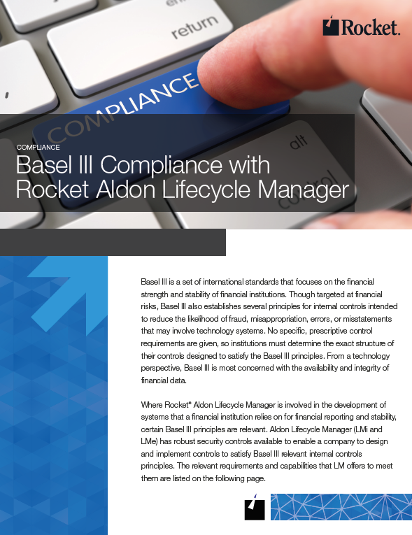 Rocket Aldon for Basel III Datasheet