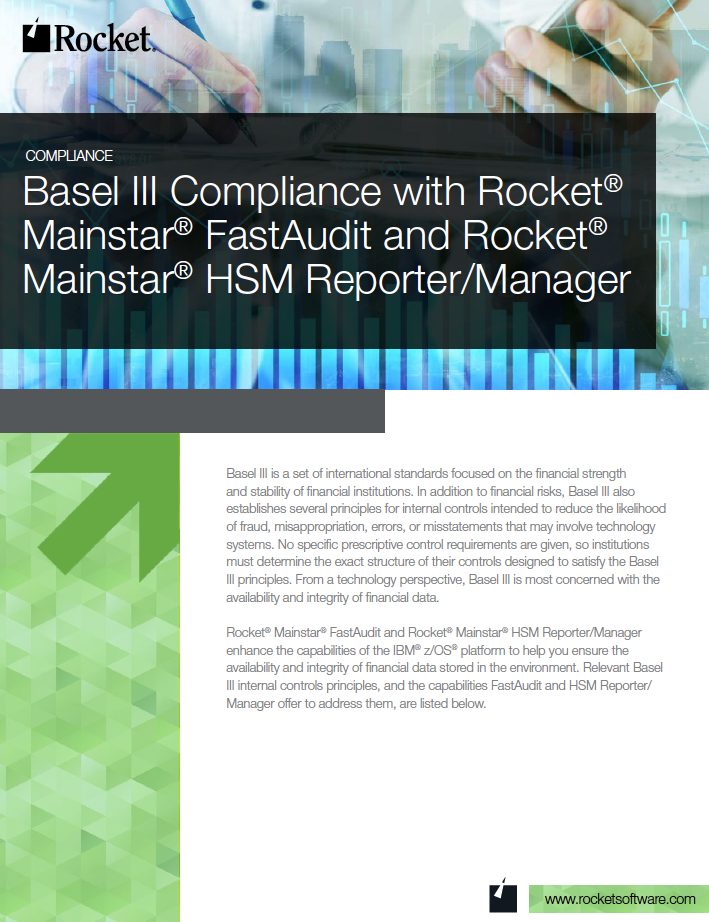Rocket Mainstar for Basel III Datasheet