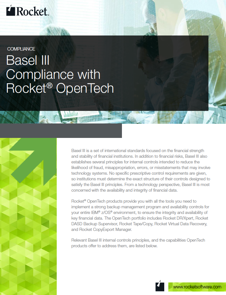 Rocket OpenTech for Basel III Datasheet