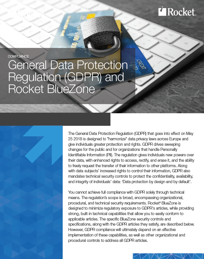 Rocket Terminal Emulation for GDPR Datasheet
