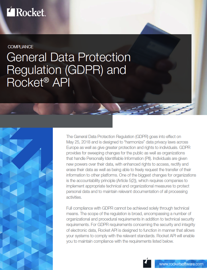 Rocket API for GDPR Datasheet