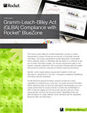 Rocket BlueZone for Gramm-Leach-Bliley Act (GLBA) Compliance Datasheet