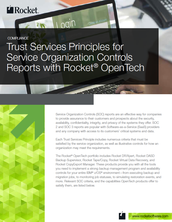 Rocket OpenTech for Trust Services Datasheet