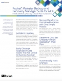 Backup and Recovery Manager Suite