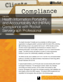 Health Information Portability and Accountability Act (HIPAA) Compliance with Rocket Servergraph Professional