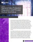 General Data Protection Regulation (GDPR) and Rocket MultiValue Databases