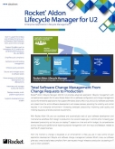 Rocket Aldon Lifecycle Manager for Rocket U2