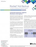 Rocket D3 Hot Backup For Rocket D3 Database Management Systems