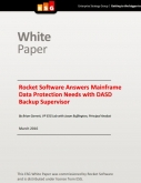Rocket Software Answers Mainframe Data Protection Needs with DASD Backup Supervisor