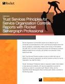 Trust Services Principles for Service Organization Controls Reports with Rocket Servergraph Professional