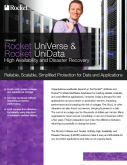 Rocket UniVerse & Rocket UniData: High Availability and Disaster Recovery
